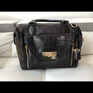 Michael Kors Brown Leather and Suede Purse